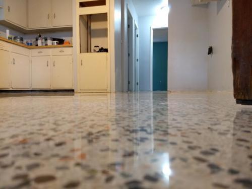 Terrazzo floor restored in Ft. Myers