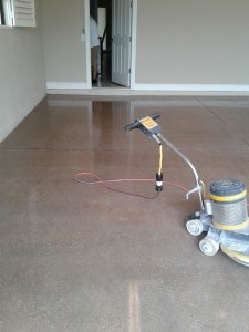 Stained, Polished Garage Floor, Naples Fl